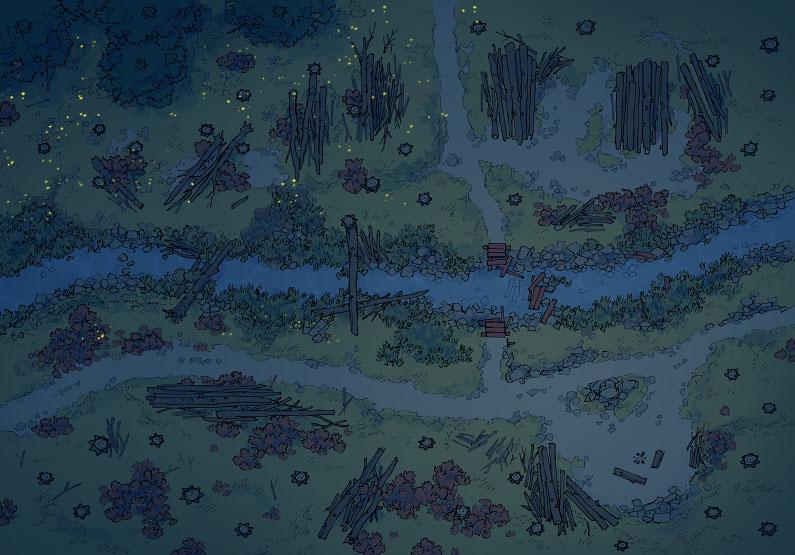 Timber Brook - Clear - Night - 44x32