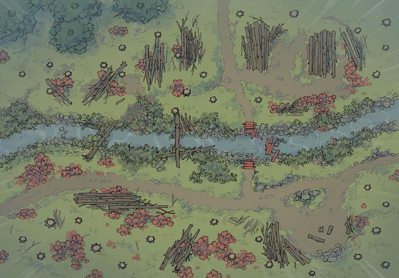 Timber Brook - Rainy - Day - 44x32