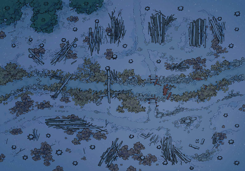 Timber Brook - Winter - Night - 44x32