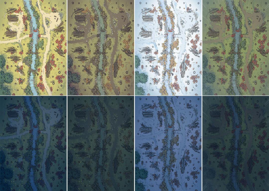Timber Brook battle map - Variants - Large