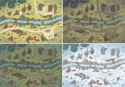 Timber Brook battle map - Variants - Small