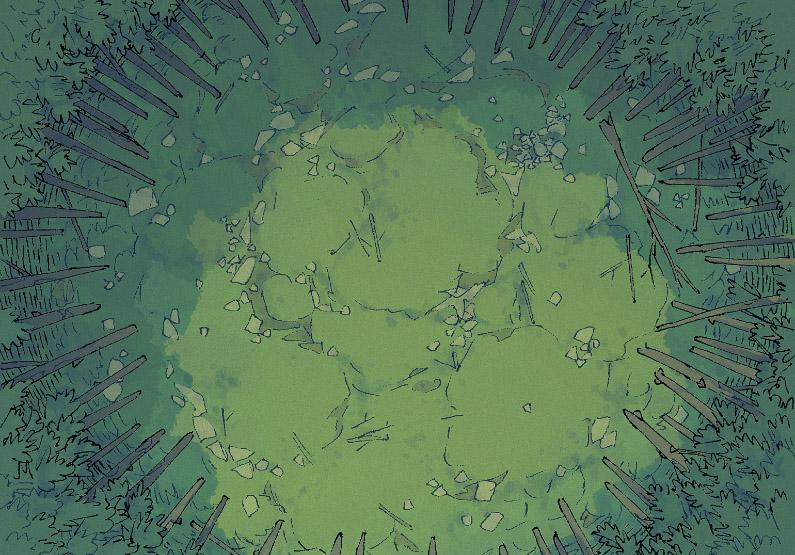 Bamboo Glade - Pine Wood - Day - 16x22