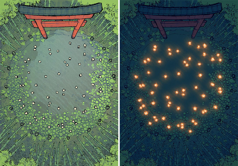 Bamboo Glade battle map - Dual main preview