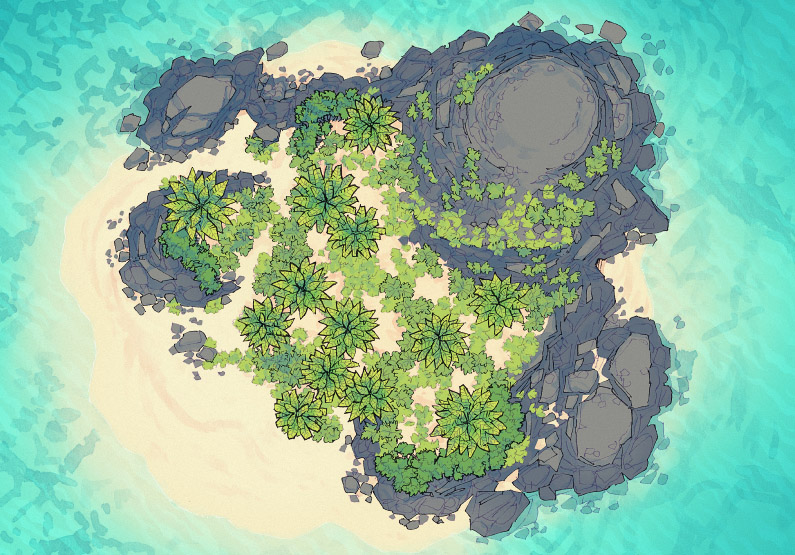 Desert Island - Tropical - Day - 44x32