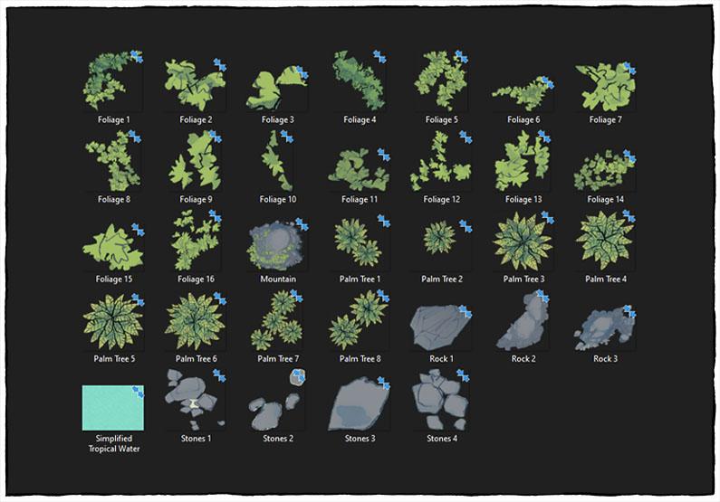 Desert Island battle map - Map assets