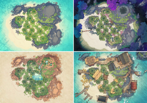 Desert Island battle map - Variants preview copy