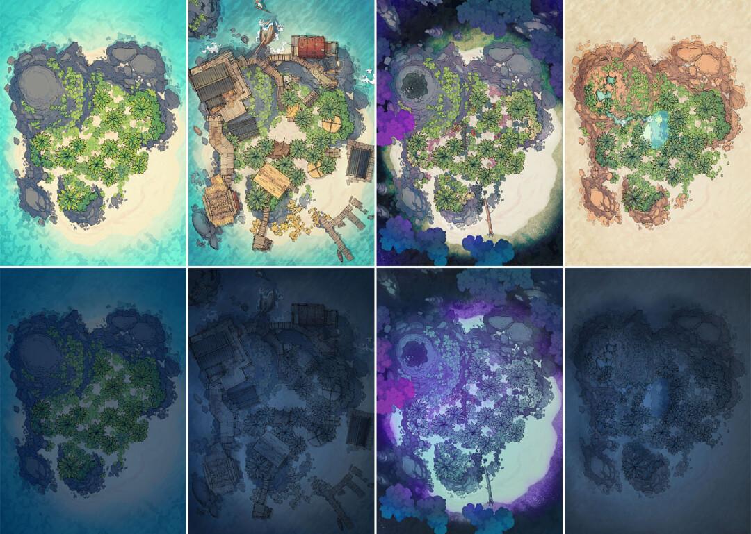 Desert Island battle map - Variants preview extended copy