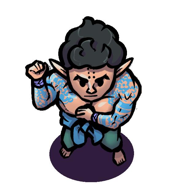 Kawaryu monk character token